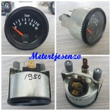Vdo oliedrukmeter 10Bar 52mm nr1950